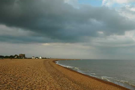 Shingle Street beach looking north