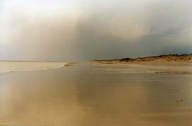 Storm approaching Brancaster beach